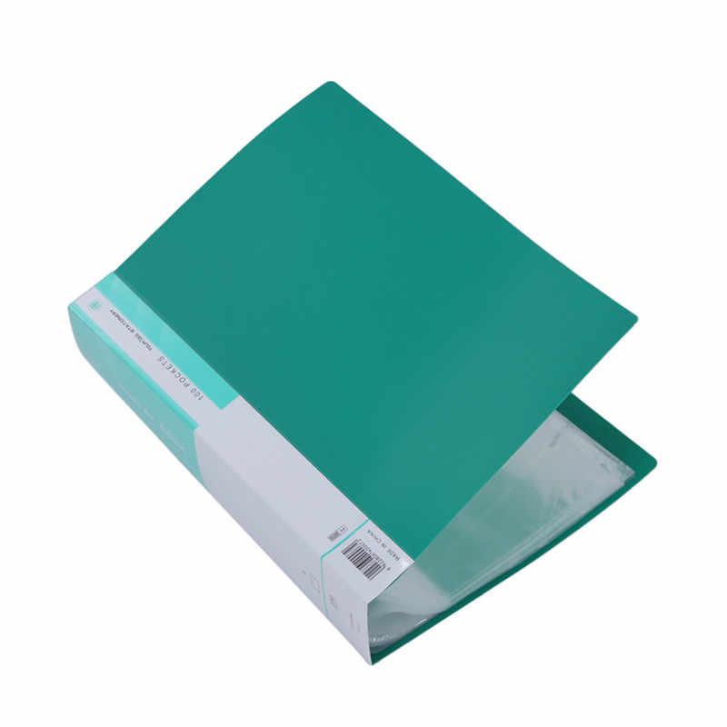 A4 Дисплей Презентация книги для хранения документов папка-портфолио 100 карманы