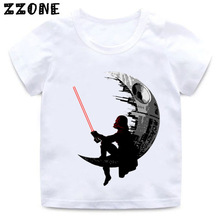 Boys and Girls STAR WARS Darth Vader Pattern T shirt Kids Darthworks Design Funny Clothes Baby Summer Casual T-shirt,HKP5514