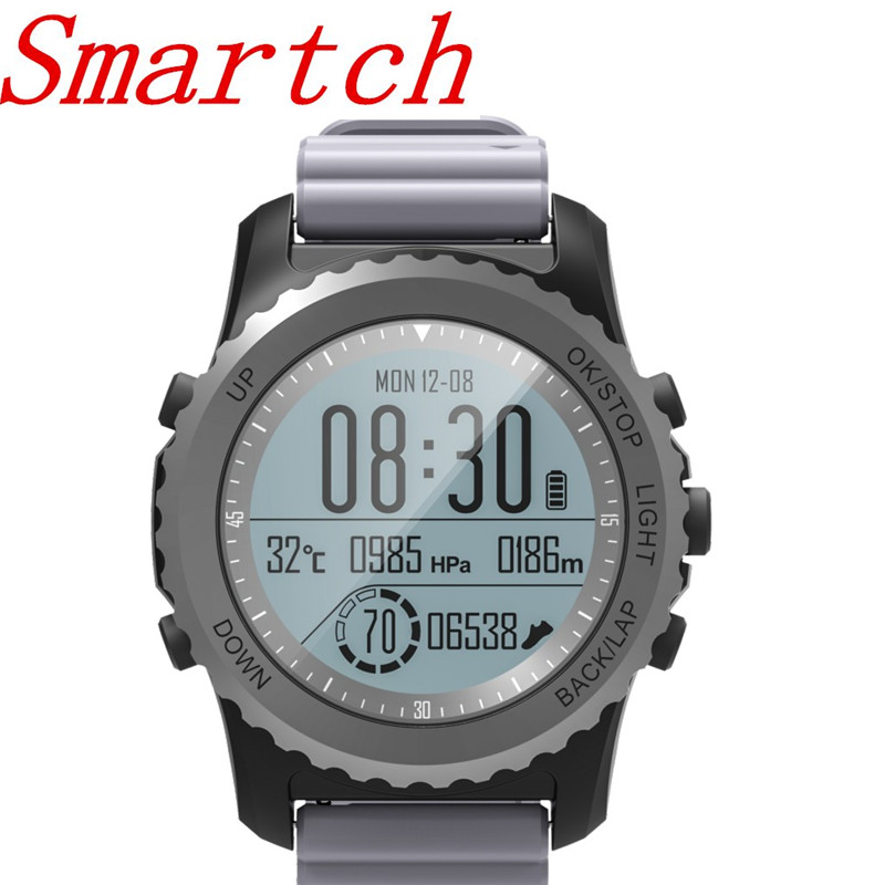 Smartch S968 GPS Sports Smart Watch IP68 Waterproof Sleep / Heart Rate Monitor Sedentary Reminder Barometer Thermometer Altimete z4 smartwatch android ios compatible ip67 waterproof heart rate monitor smart watch sedentary reminder pedometer remote camera