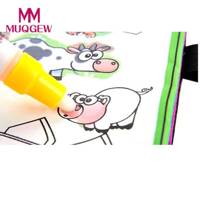 MUQGEW Coloring book Kids Animals Painting Magic Water Drawing Book aqua doodle  Coloring Book Water Drawing Book Doodle U#ES