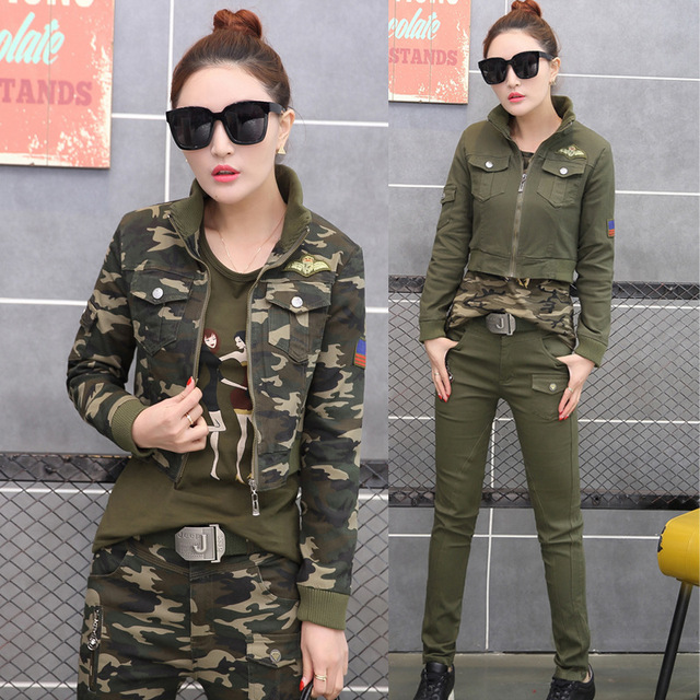 aliexpress : buy 3 piece set women military suits 2017 spring