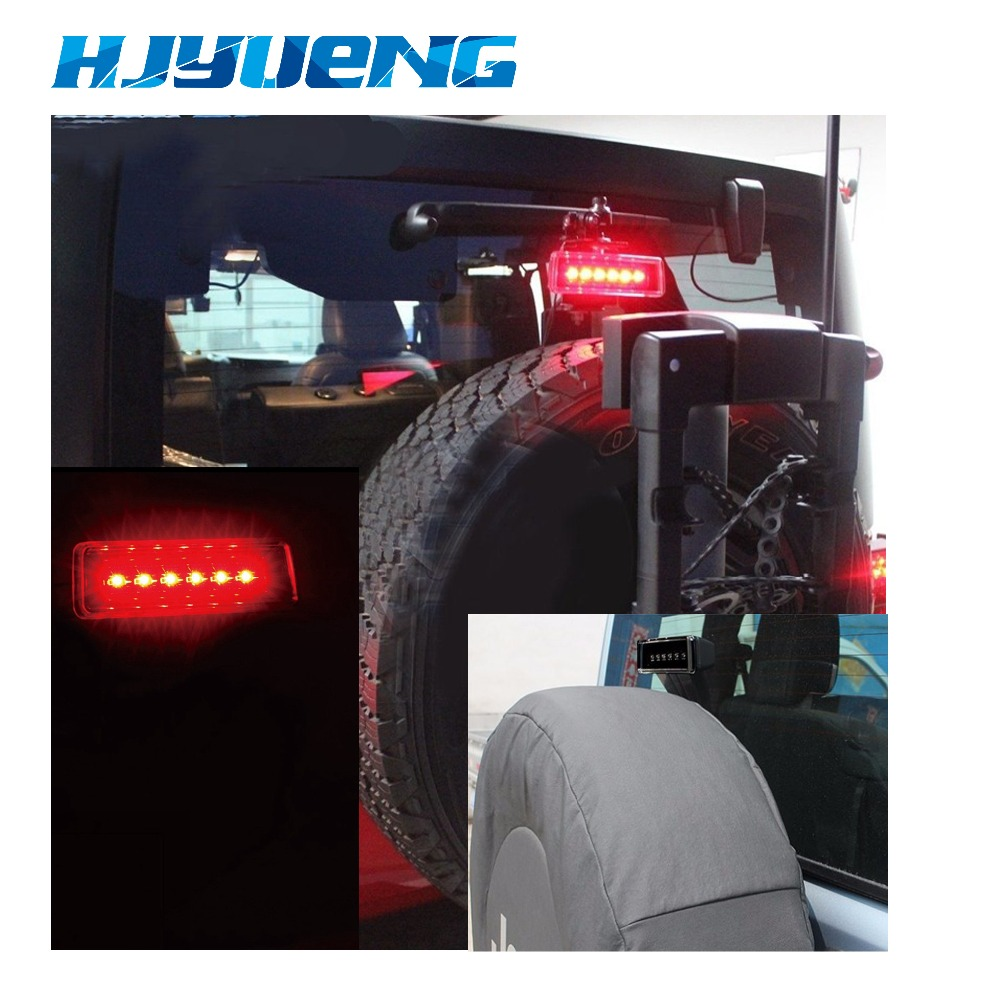 Image 5 - HJYUENG 15W Black 6 LED Rear Tail 3rd Led Brake Light Third Brake Lamp Red For Jeep Wrangler JK Sport Altitude Unlimited-in Car Light Assembly from Automobiles & Motorcycles