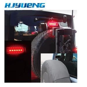 Image 5 - HJYUENG 15W siyah 6 LED arka kuyruk 3rd Led fren işığı üçüncü fren lambası kırmızı Jeep Wrangler JK için spor rakım sınırsız