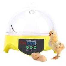 Mini 7 jaj automatyczne inkubatory jaj elektroniczny cyfrowy inkubator toczenie regulacja temperatury dla kurcząt kaczki gęsi przepiórki