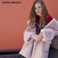 Vero Moda 2019 new lace up mid length velvet fabric fleece jacket|318309502