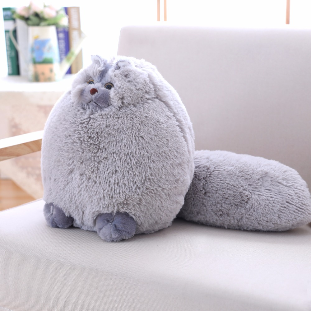 50cm Plush Fluffy Cats Persian Cat Toys Pembroke Pillow Soft Stuffed