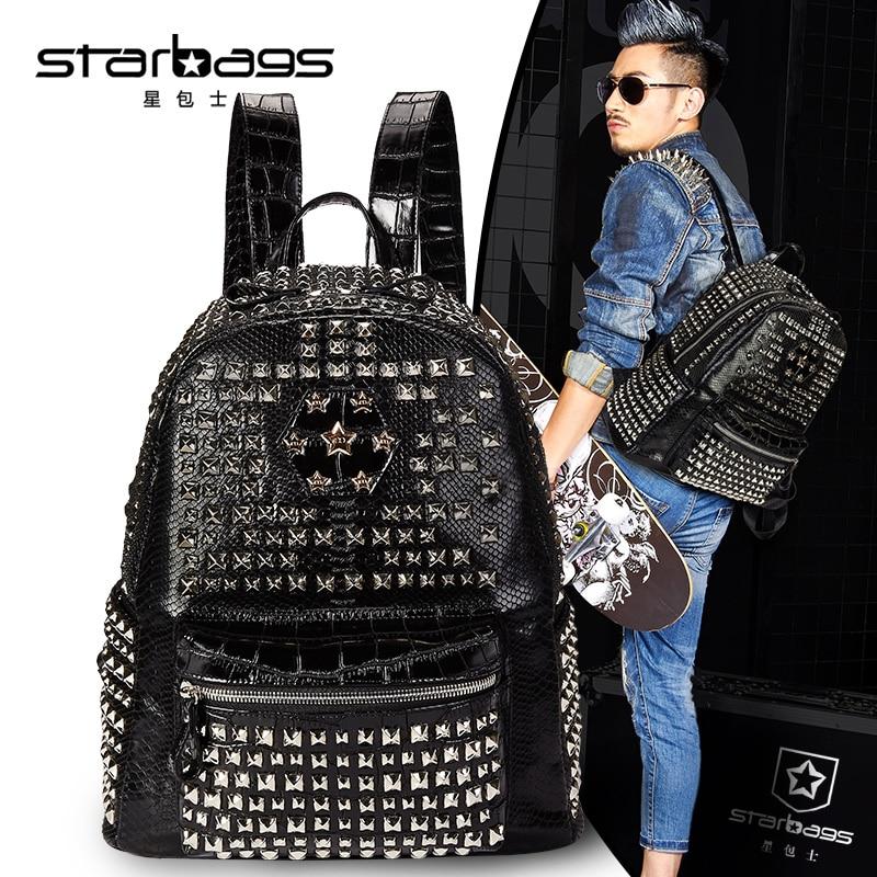 Starbags 2017 hot selling teenager shoulder bag punk style rivet leisure backpacksStarbags 2017 hot selling teenager shoulder bag punk style rivet leisure backpacks