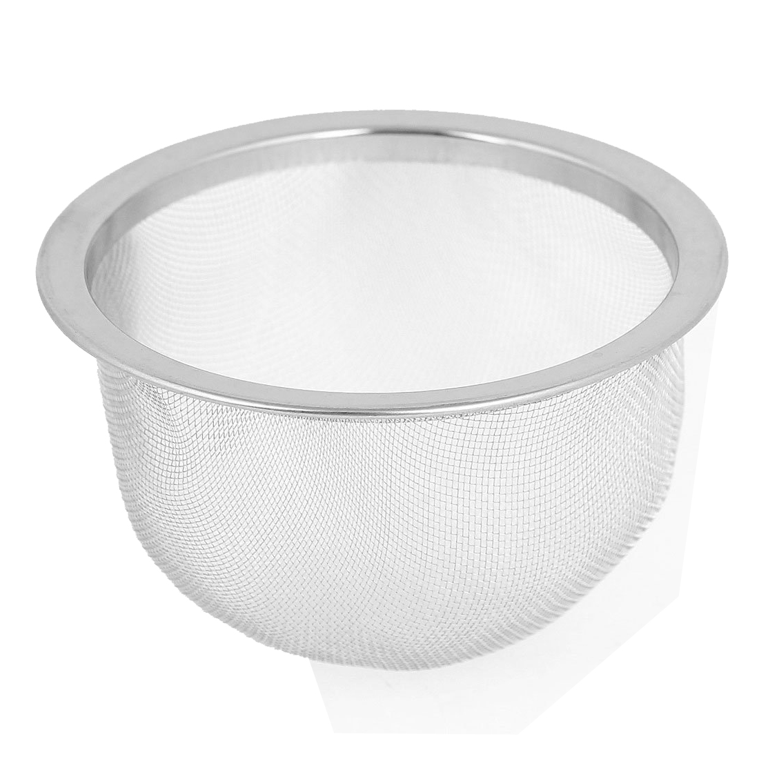 76mm Silver Tone Stainless Steel Wire Mesh Tea Leaves Spice Strainer Basket