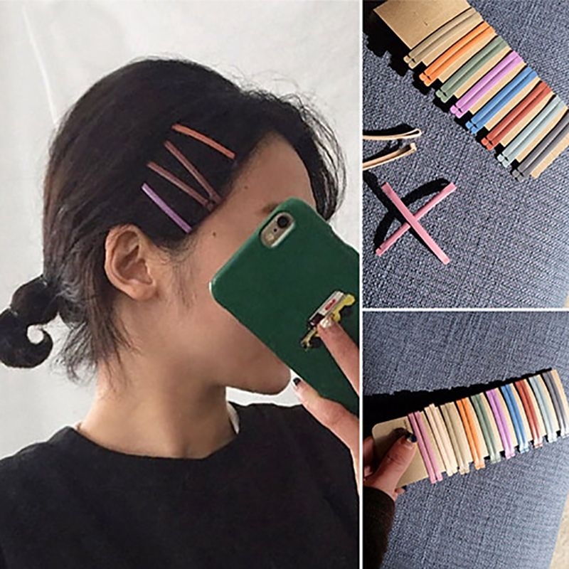 1PC simple metal longues épingles à Cheveux Femme Pince à Cheveux Barrette Bobby Pin filles hairgrip