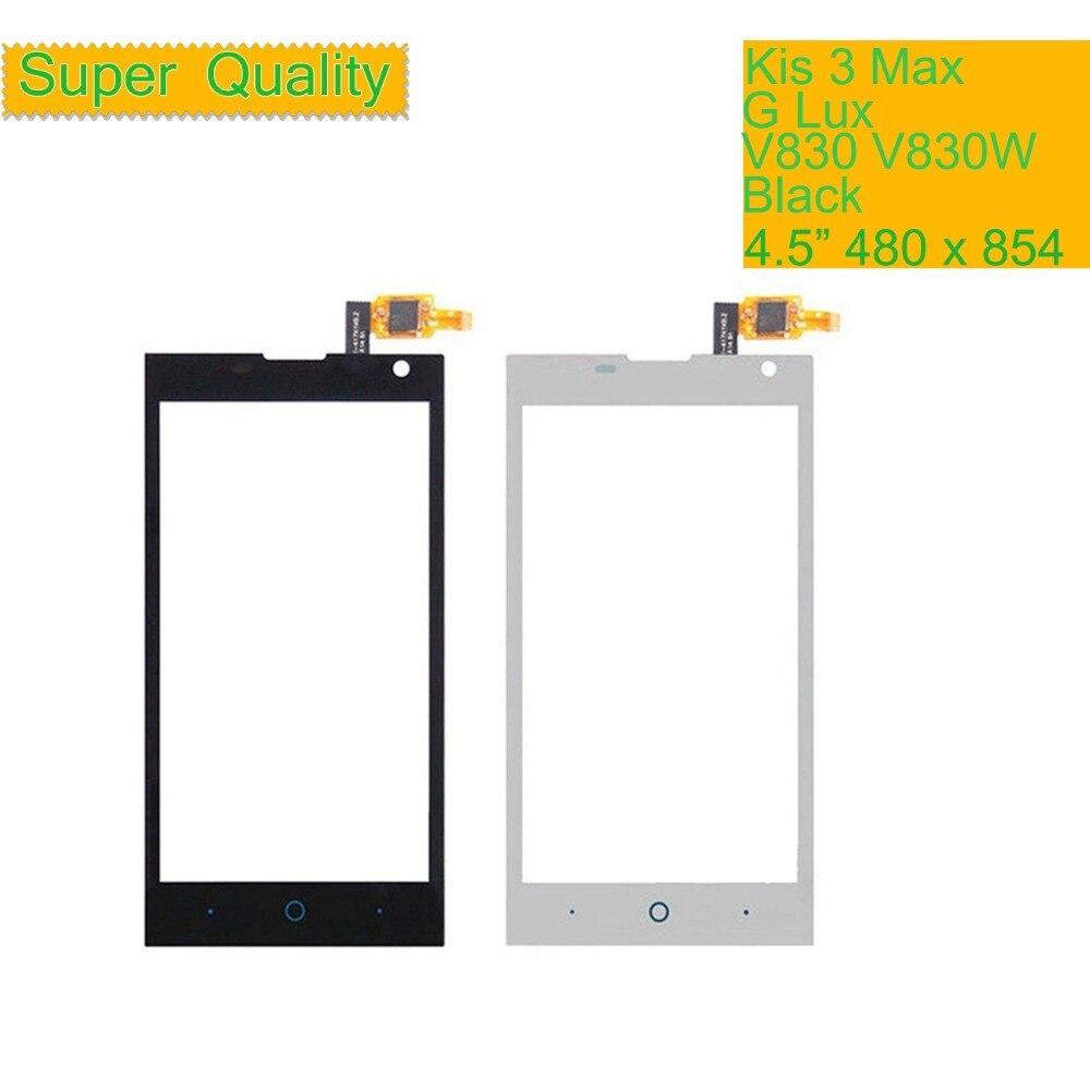 Оригинальный сенсорный экран дигитайзер для ZTE Blade G Lux / Kis 3 Max V830 V830W Переднее стекло Сенсорная панель Сенсорный экран объектив