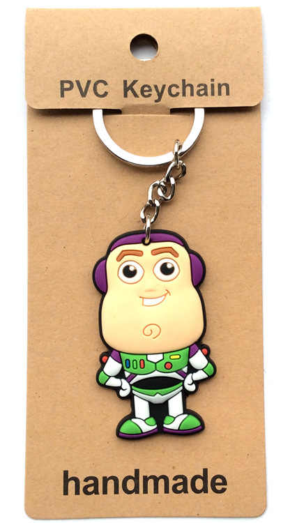20 cái/lốc PVC buzzy móc khóa llaveros Para mujer móc khóa Porte Clef móc khóa Vỉ đóng gói trẻ em Quà tặng