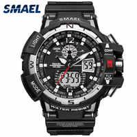 Reloj informal para hombre impermeable montre homme reloj de escritura LED reloj Digital para hombre reloj Led reloj de hombre 1376 gran deporte relojes