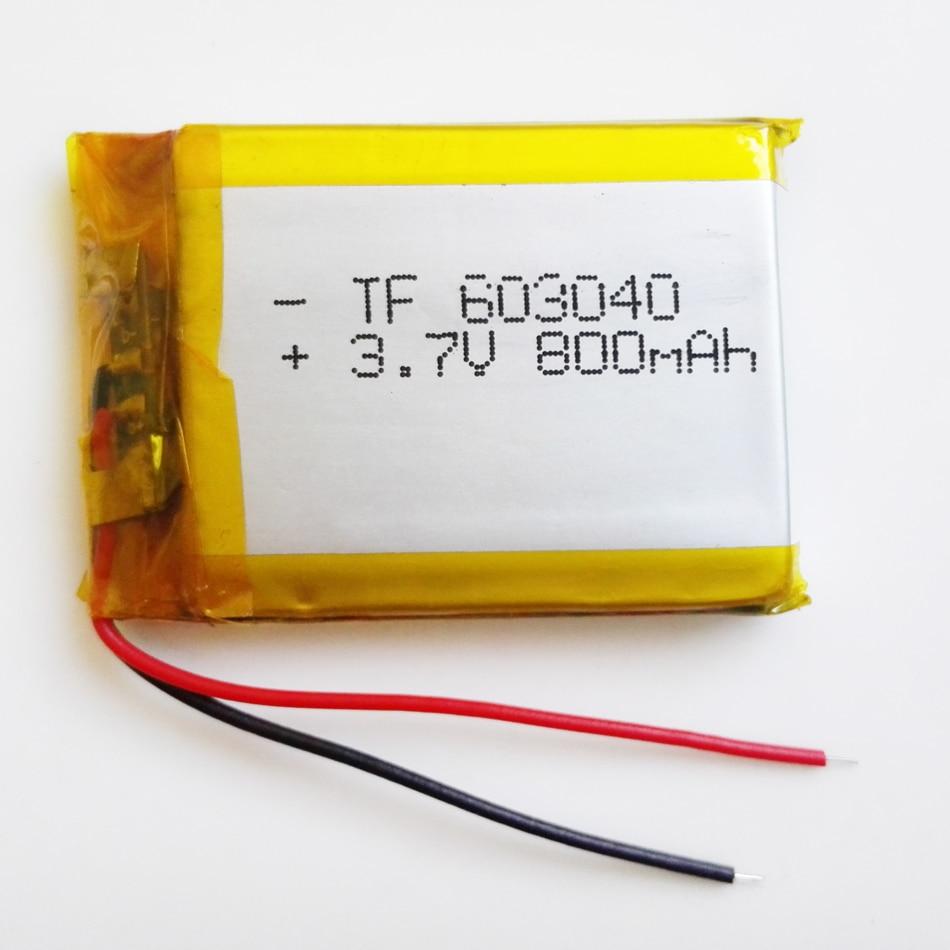 3.7 V 800 mAh 603040 Polimeri di Litio LiPo Batteria Ricaricabile Per Mp3 Mp4 Mp5 PAD DVD FAI DA TE E-Book bluetooth auricolare