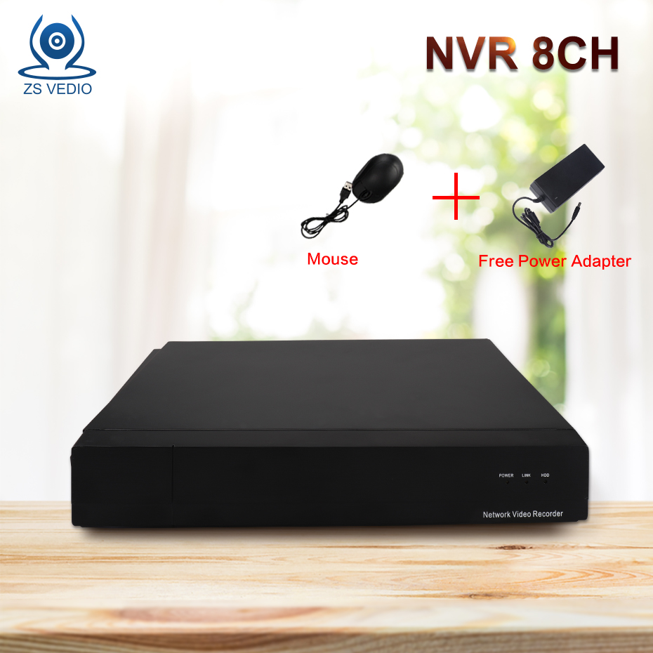 ZSVEDIO NVR 8CH 1080P ONVIF H.264 Wifi FTP Network security Video Recorder Support CCTV IP Camera Video System Remote View P2P hikvision embedded 8ch wireless nvr ds 7108ni e1 v w 8ch 1080p mini wifi network video recorder onvif support original english