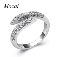 Fashion Simple Nail Rings For Women Micro Pave Cubic Zirconia Easy Matching Modern Luxury Brand Jewelry