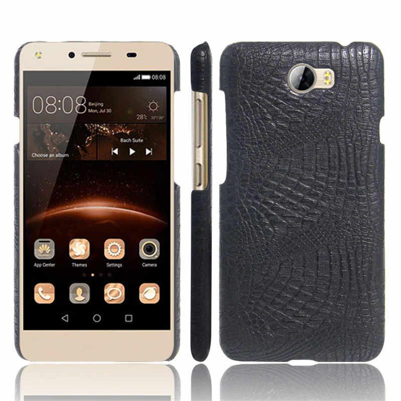 Huawei Y5 II Huawei CUN-U29 coque etui de téléphone en cuir synthétique polyuréthane Pour Huawei Y5 II Y5II Lte Y5 2 CUN-L01 CUN L01 U29 L21