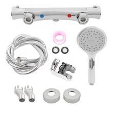 G1/2 Thermostatic Shower Head + Hose Bracket Bathroom Faucet Kit pommeau de douche hand shower