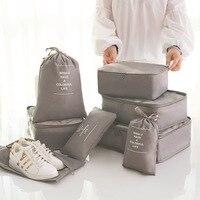 Высокое качество 8 в 1 Дорожный чемодан Органайзер наборы сумки для хранения непромокаемые сумки для сортировки багажа 8 шт. в комплекте для ...