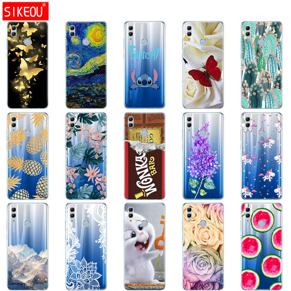 silicone case for huawei honor 10 lite case 6.21 inch soft tpu back phone cover for honor 10 lite Coque Etui full 360 protective