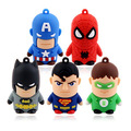 Unidad flash usb super hero/superman/batman/hombre araña/capitán américa pendrive 1 gb 2 gb 4 gb 8 gb 16 gb 32 gb pen drive 100 unids/lote