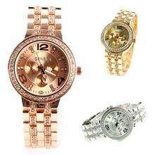 Crystal Wrist Watch Women Men Girl Unisex Stainless Steel