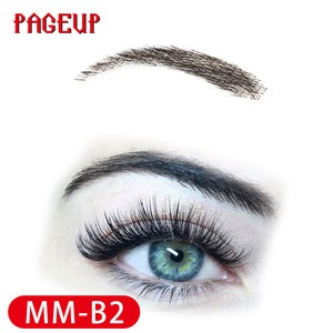 Image 4 - Pageup Handmade False Eyebrows For Women Made By 100% Real Hair For Party Wedding Cosplay Star Fake Eyebrow Synthetic Eyebrows