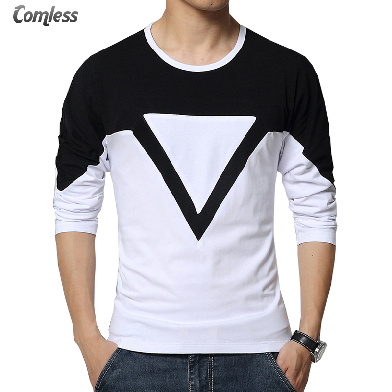 Mens fashion patchwork mixed colors black white casual for Popular mens shirts brands