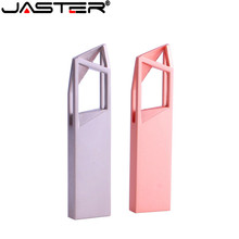 JASTER metal USB 2.0 Drive original memory USB stick hot sale pendrive 4GB/8GB/16GB/32GB/64GB (50 PCS free LOGO)