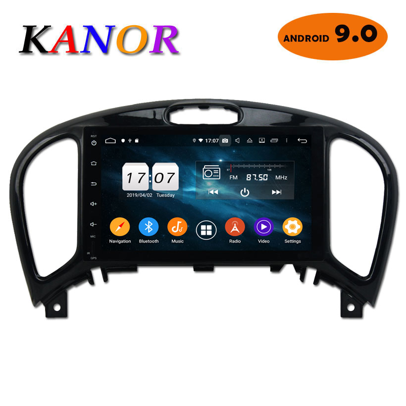 Kanor Octa Core Android 9.0 4+32g IPS Screen 2din Car Radio for Nissan Juke 2004 2012 in dash 2 din 1024*600 car gps navigation