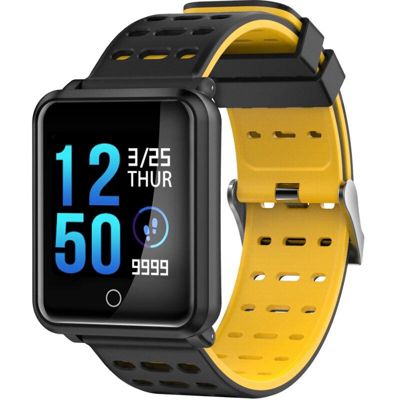 2018 nueva fitness smart watch N88 salud Bluetooth monitor de ritmo cardíaco impermeable deportes smart pulsera para hombres y mujeres