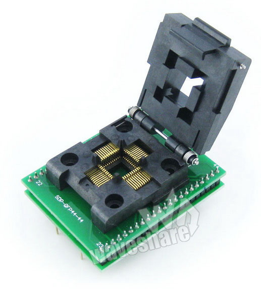 Qfp44 To Dip44 Programmer Adapter Yamaichi Ic Programmer Adapter For Qfp44/tqfp44/fqfp44/pqfp44 Package Ic51-0444-467 0.8mm Diversified Latest Designs a