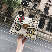 2018 Luxury Handbags Women Bag Designer Vintage Badge Small Shoulder Crossbody Bags For Women Messenger Bags bolsa feminina