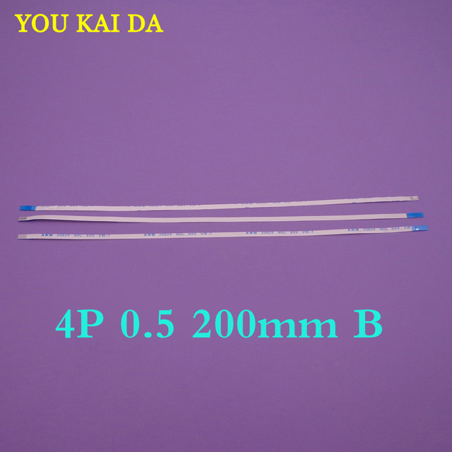 100 stks/partij Nieuwe FFC FPC platte flexibele kabel 0.5mm pitch 4 pin Reverse Lengte 200mm Breedte 2.5mm Lint Flex Kabel 4pin 4 P