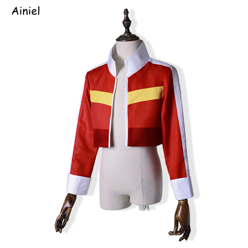 Voltron: Defender of the Universe Defender Keith Cosplay Red Jacket Coat for Women Men Halloween Costumes Top Coat Outfit