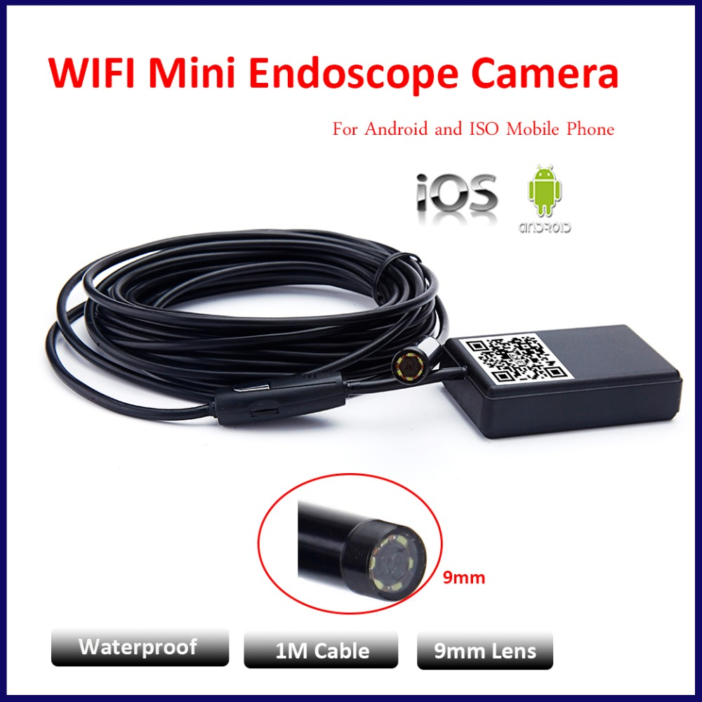 ФОТО 9mm 1M Waterproof Iphone WIFI Endoscope Camera Module OTG WIFI IOS Android Endoscope Inspection Underwater Fishing