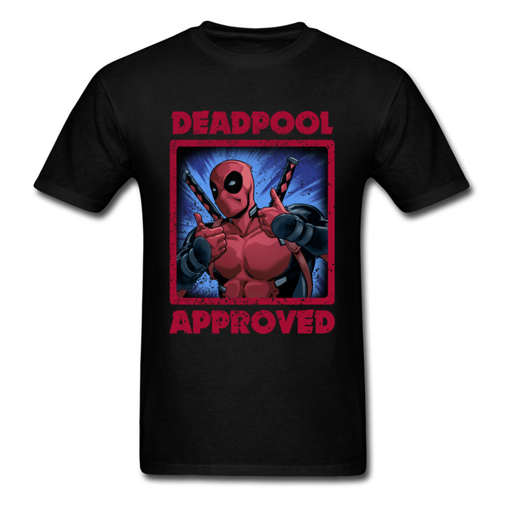 Symbol Of The Brand 2018 Hottest Deadpool T Shirt 100% Cotton Marvel Movie Tshirt Red Ironman Superhero T-shirts For Handsome Man Avengers Tshirts Strengthening Sinews And Bones Men's Clothing T-shirts