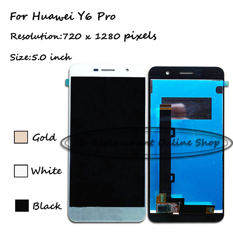 "imágenes para LCD + TP 5.0 ""para Huawei Y6Pro TIT-U02 Y6 Pro TIT-AL00 Reemplazo de Pantalla LCD + Digitizador de la Pantalla Táctil Smartphone + Envío Libre"