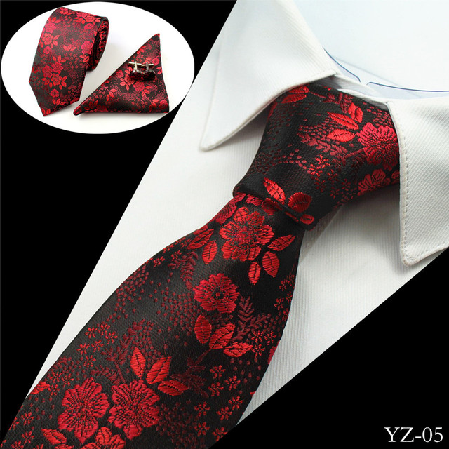 Men's Silk Tie And Cufflinks Set