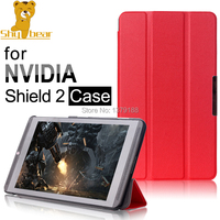 New Arrival Case For NVIDIA Shield 8 Triangle Folded Leather Case Cover For NVIDIA Shield 2