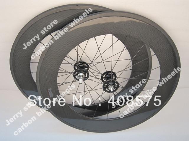 88mm tubular fixed gear carbon fiber bike wheel single speed high end track carbon cycle wheel 700C