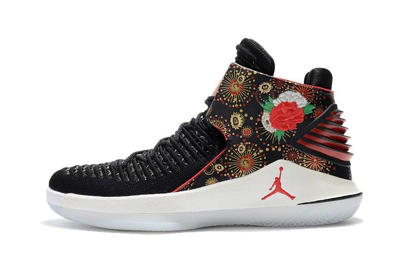 8ec222f74315 Detail Feedback Questions about Original Jordan XXXII CNY AJ32 Men s  Basketball shoes Rosso Corsa Crack Flights Speed Athletic Outdoor Sport  Sneakers 40 46 ...