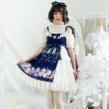 MANLUYUNXIAO Original Design  Lolita Skirt  Halloween  Dress   Princess  Jsk  White Lolita Ruffles  Girls Sleeveless Dress the carousel sweet printed lolita casual jsk dress by alice girl