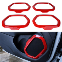 New 4 Pcs Interior Decoration Door Speaker Trim Radio Audio Outlet Frame Cover For Jeep Renegade 2015 2016 2017