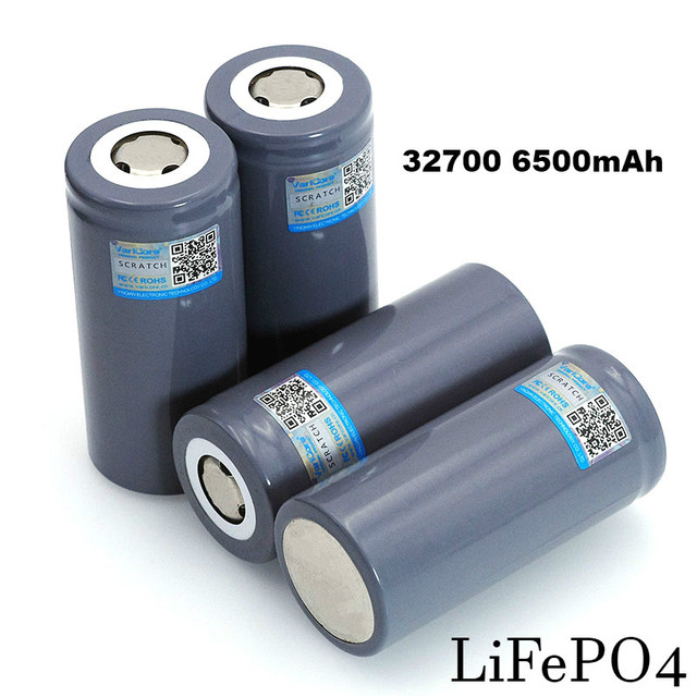 4 PCS VariCore 3.2 V 32700 6500 mAh LiFePO4 Pin 35A Xả Liên Tục Tối Đa 55A công suất Cao pin pin Thương Hiệu