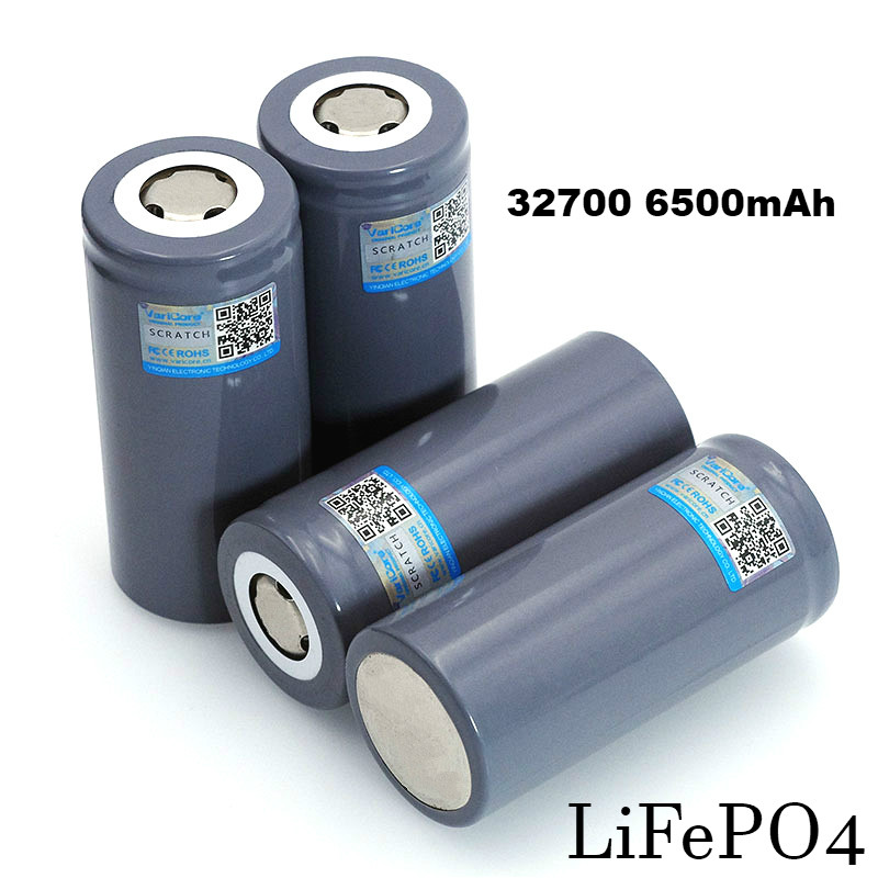 4PCS VariCore Brand 3.2V 32700 6500mAh LiFePO4 Battery 35A Continuous Discharge Maximum 55A High power battery цена 2017