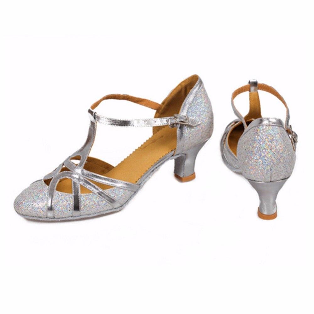 511 peta 5cm zlato srebrna svjetlucava Zapatos salsa Mujer plesna - Tenisice - Foto 3