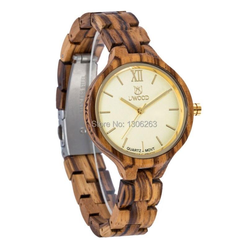 Nouveau Top marque UWOOD montre bois montres femmes horloge Unique femmes montre en bois Relogio Feminino Masculino
