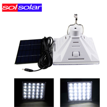 Super Bright 25 LEDs Solar Pyramid Chandelier Portable Light System Work Time 8 Hours Solar Rechargeable Energy Outdoor Camping