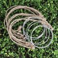 Вешалка для стеклянных банок  6/12 шт.  металлическое кольцо из нержавеющей стали с ручками-шпагатами для стеклянных банок  маленькая консерв...