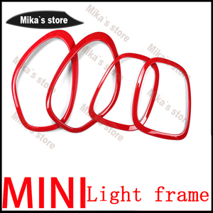 Image 5 - ABS For Mini Cooper countryman R60 F60 car styling  Rear Tail Lights+Head Lamps Rims Surrounds Covers car styling (4 Pcs/set)